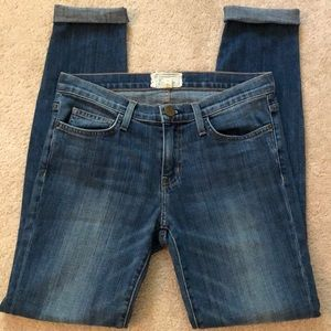 Current Elliot Rolled up Skinny Jeans size 27